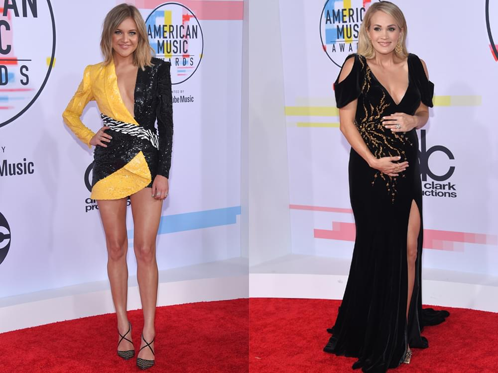 17 of Our Favorite Red Carpet Photos From the American Music Awards, Including Carrie Underwood, Kelsea Ballerini, Thomas Rhett & More