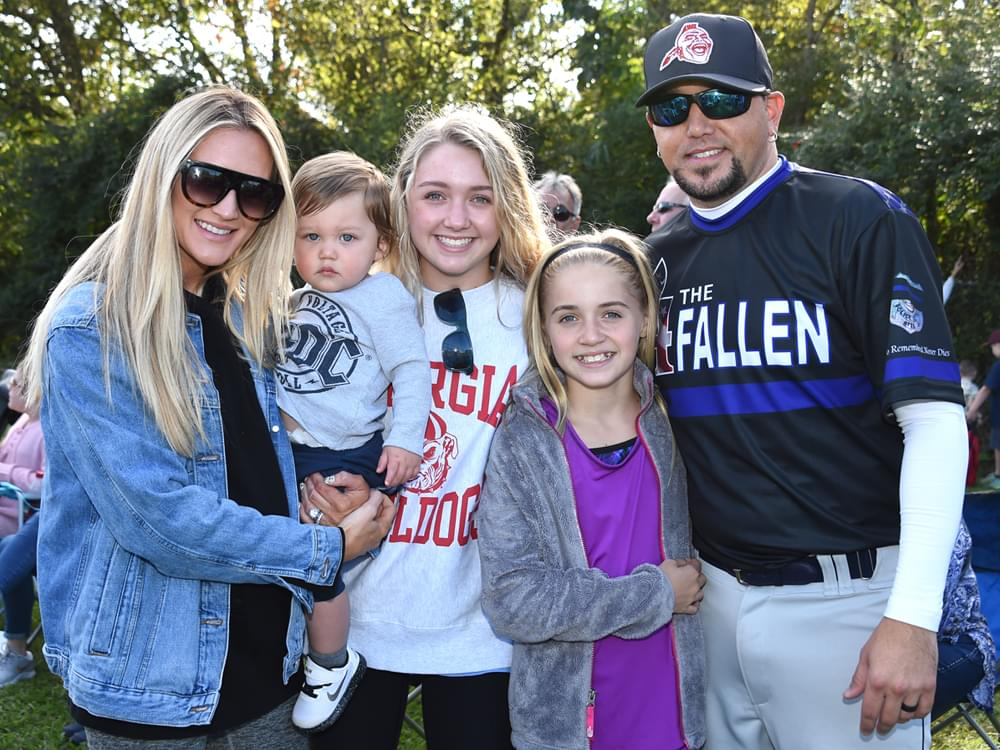 Jason Aldean Helps Raise Funds for the Families of 2 Fallen Officers in Charity Softball Game [Photo Gallery]