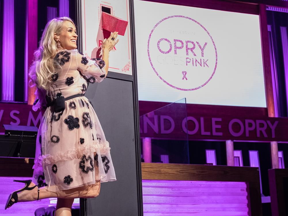 "Watch Carrie Underwood Flip the Switch at 10th Annual ""Opry Goes Pink"" to Fight Breast Cancer"