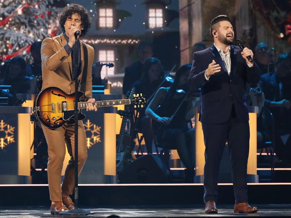 "Watch Dan + Shay Perform ""I'll Be Home for Christmas"" From ""CMA Country Christmas"" TV Special"