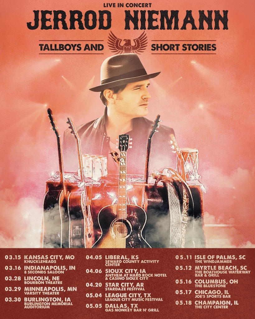 "Jerrod Niemann Announces ""Tallboys & Short Stories Tour"