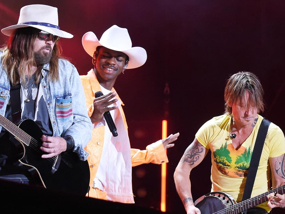 """Watch Lil Nas X, Billy Ray Cyrus and Keith Urban Surprise Fans by Joining Forces on """"Old Town Road"""" at CMA Fest"""