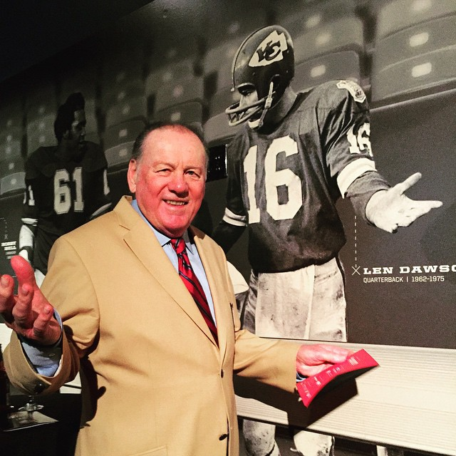 CHIEFS TO DEDICATE LEN DAWSON TV BROADCAST BOOTH PRIOR TO MONDAY NIGHT FOOTBALL GAME VS. DENVER