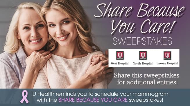 Share Because You Care! Sweepstakes