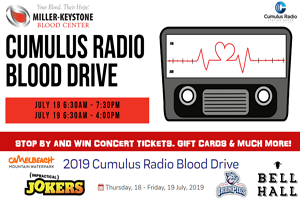 Miller-Keystone Blood Center & Cumulus Radio Blood Drive