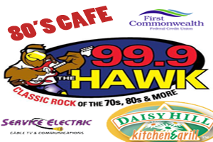 99.9 The Hawk 80's Cafe