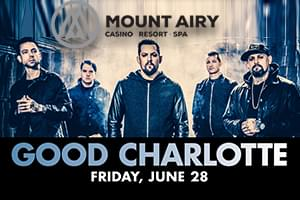 Spin Radio Welcomes Good Charlotte at Mount Airy Casino Resort