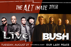 Live + Bush at The Great Allentown Fair August  27
