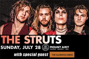 Spin Radio Welcomes The Struts and The Glorious Struts to Mount Air Casino Resort