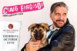 Craig Ferguson Performing at Wind Creek on October 10th