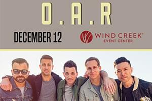 SPIN Welcomes O.A.R. to the Wind Creek Event Center!