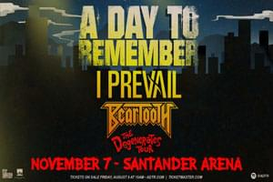 A Day to Remember at The Santander Arena on November 7th