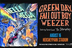 Spin Radio Welcomes Green Day, Fall Out Boy and Weezer to Hersheypark Stadium August 16, 2020