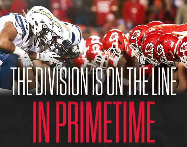 Listen to WIN TICKETS for the Chiefs vs Chargers!