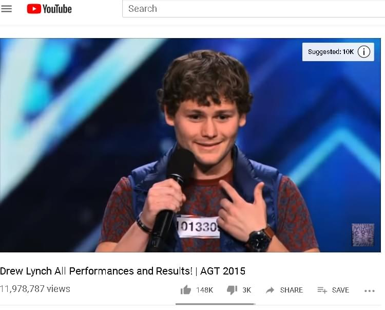 WIN TICKETS TO SEE DREW LYNCH from AMERICA'S GOT TALENT TONIGHT!