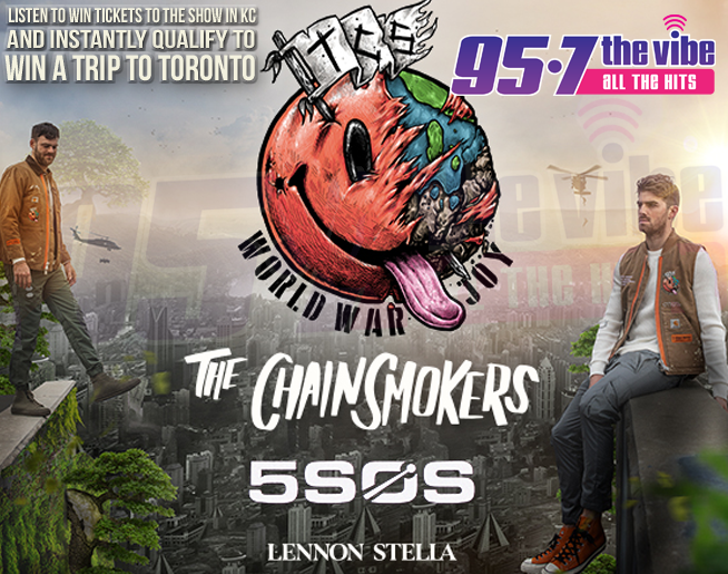 Starting MONDAY: Flight 957 to Toronto to see The Chainsmokers
