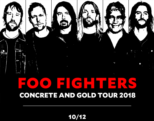 FOO FIGHTERS Concrete and Gold Tour 2018