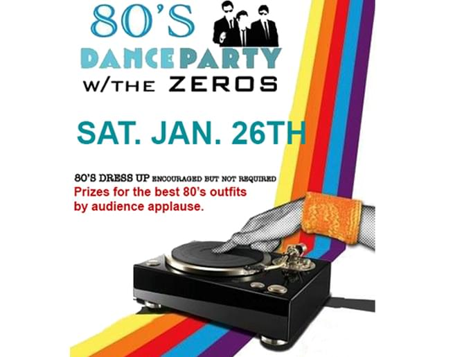 94.9 KCMO presents The 80's Dance Party with The Zeros – January 26th