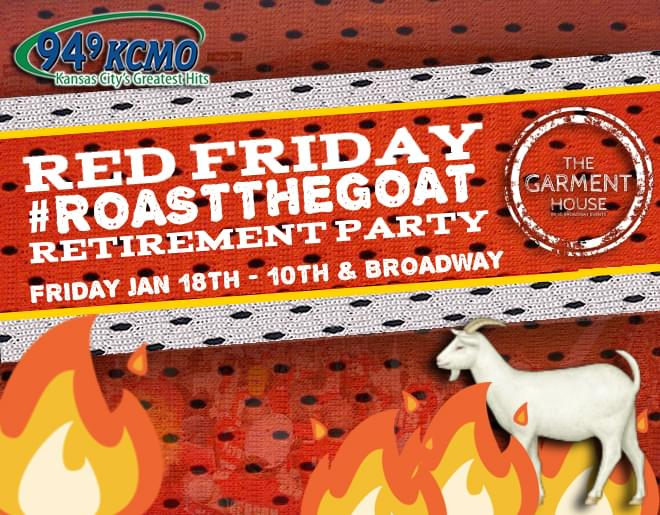 Red Friday #RoastTheGoat Retirement Party – WIN TICKETS