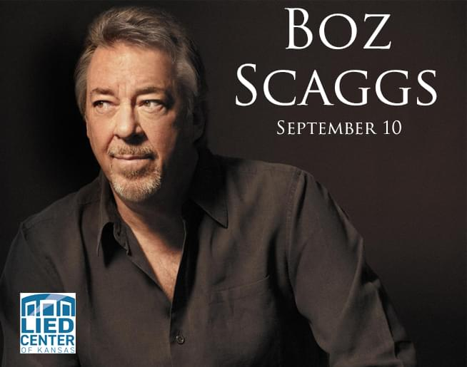 Boz Scaggs LIVE at the Lied Center on Sept. 10th!