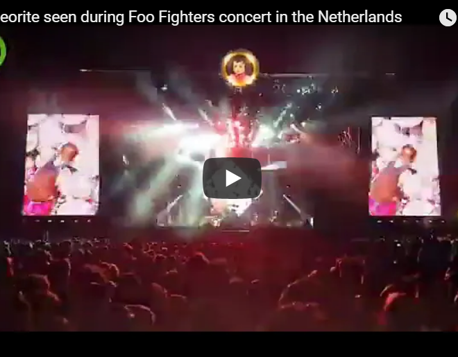 VIDEO: Meteor Flies Over Foo Fighters Concert After Drum Solo