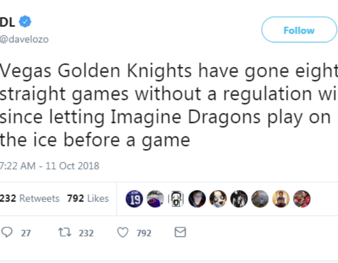 ESPN Reporter Blames Imagine Dragons for Golden Knights Losing Streak