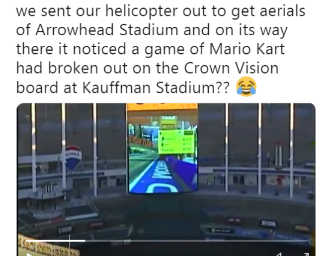 Caught Playing Mario Kart on Crown Vision