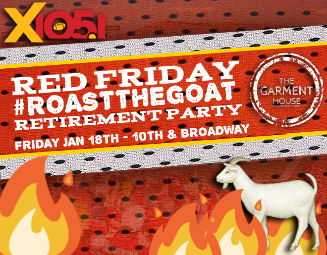 #RoastTheGOAT // Friday @ The Garment House