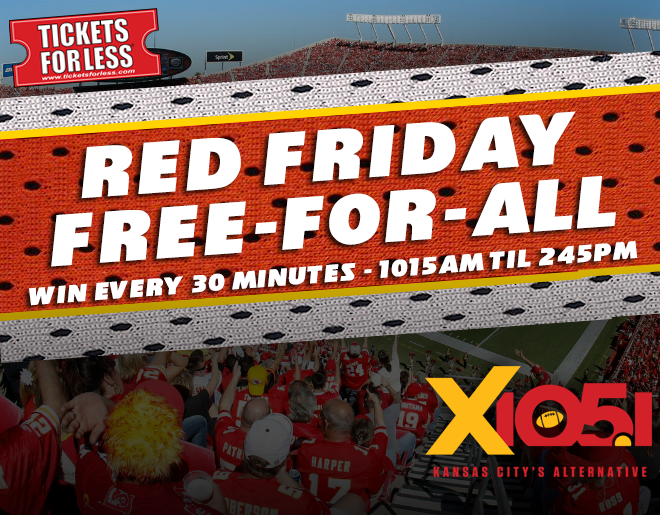 Red Friday Free-For-All // Win Tickets Every 30 Minutes
