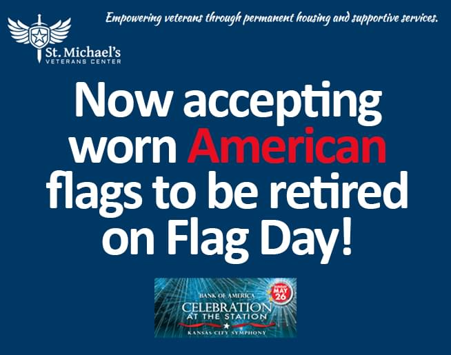 Bring your worn American flags to Celebration at the Station!