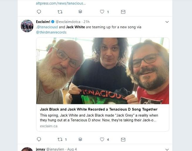 Jack White And Jack Black Recorded A Song Together!