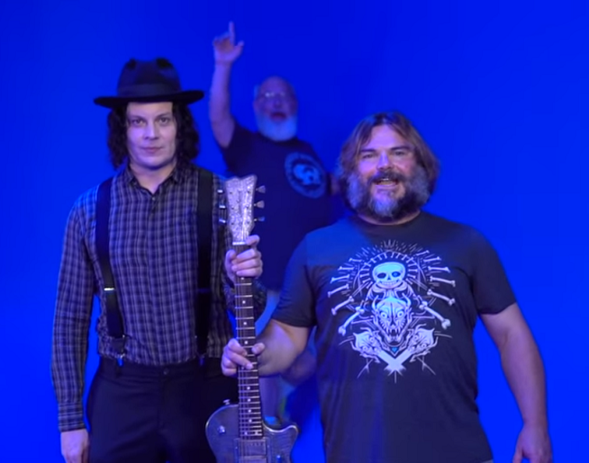 Jack Black Posts Video Of His Jack White Visit!