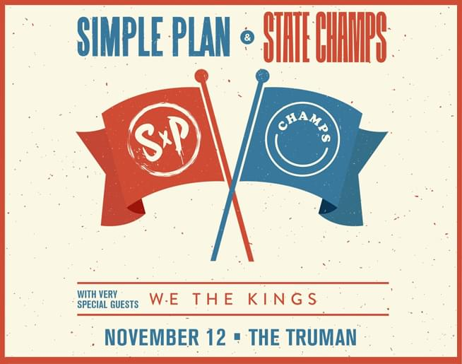 Simple Plan + State Champs // 11.12.19 @ The Truman