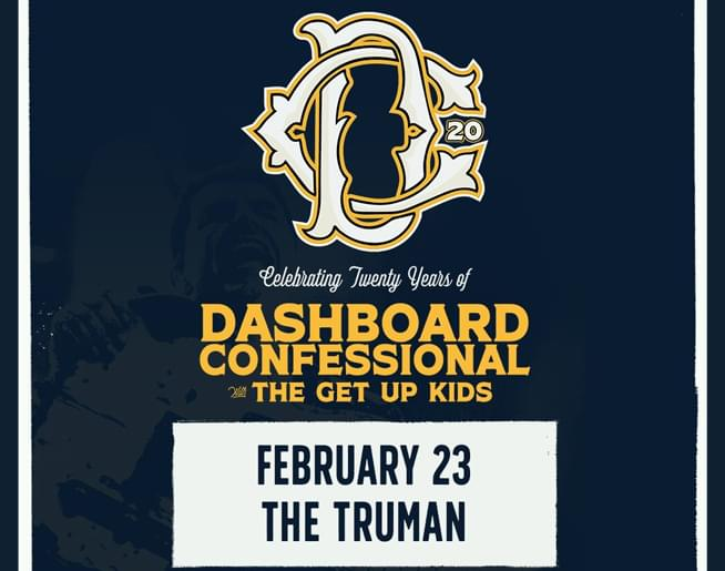 Dashboard Confessional // 2.23.20 @ The Truman