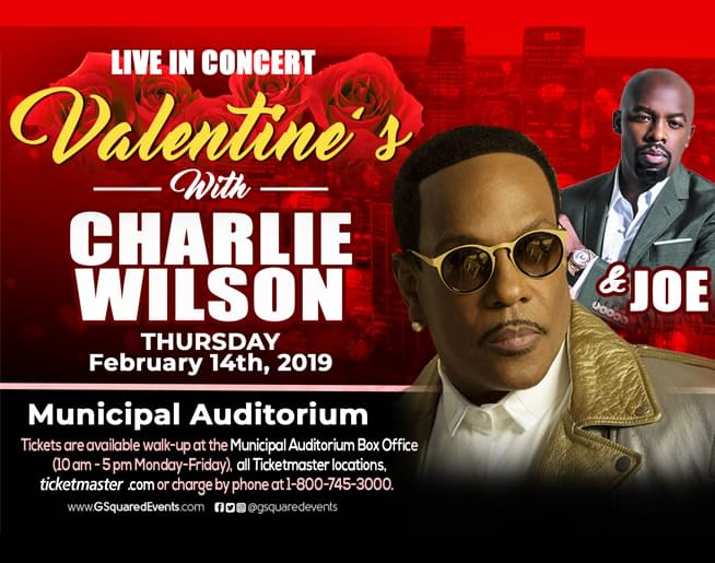 Valentine's with Charlie Wilson at Municipal Auditorium
