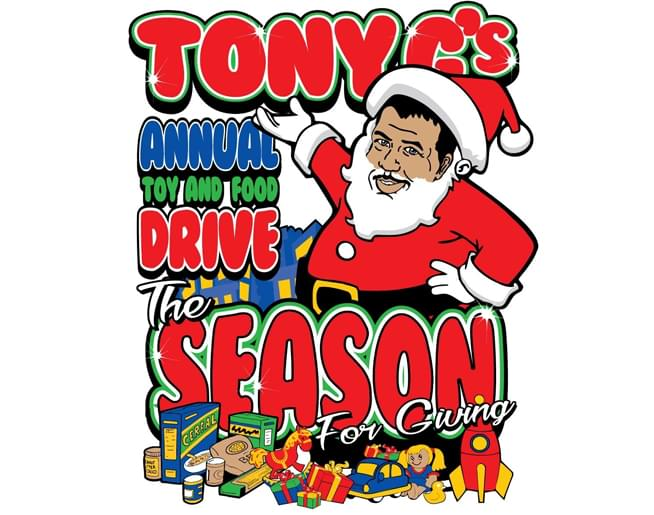 Tony G's Annual Toy & Food Drive – December 15th