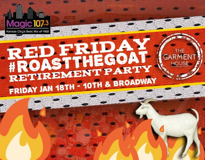 Red Friday #RoastTheGoat Retirement Party