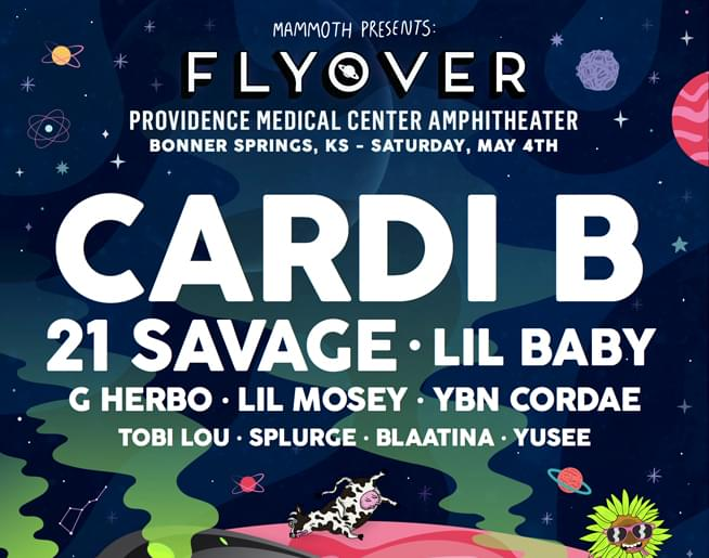 Cardi B | 21 Savage | Lil Baby LIVE at Flyover May 4th