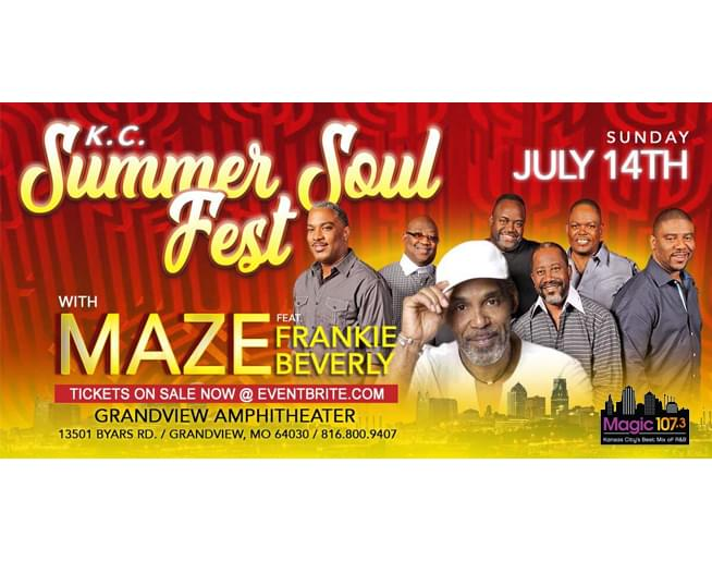 KC Summer Soul Fest with Maze & Frankie Beverly – July 14th