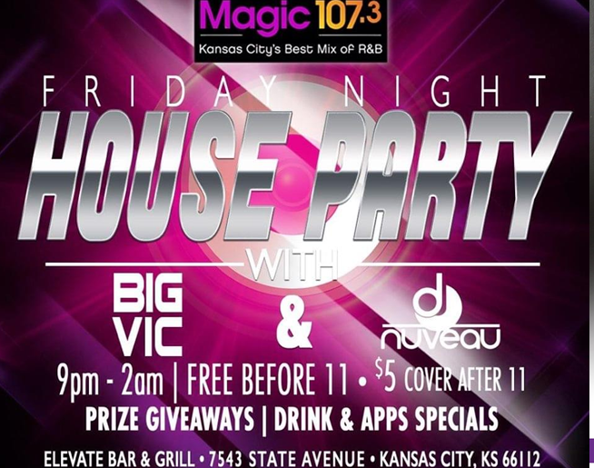 Friday Night House Party LIVE @ Elevate Bar & Grill