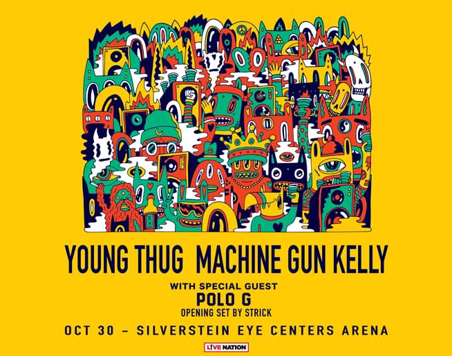 Young Thug & Machine Gun Kelly October 30th at Silverstein Eye Centers Arena