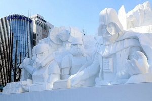 SWEET Japanese Star Wars Snow Sculpture