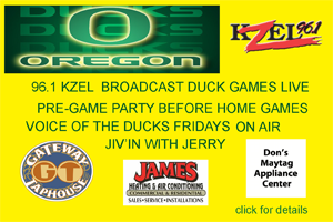 96.1 KZEL GET'S YOU READY FOR OREGON DUCK FOOTBALL