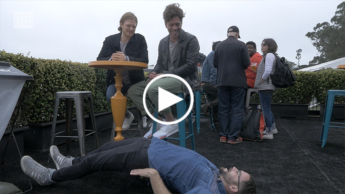 Inside Outside Lands: FRENSHIP teaches Arthur yoga…sort of