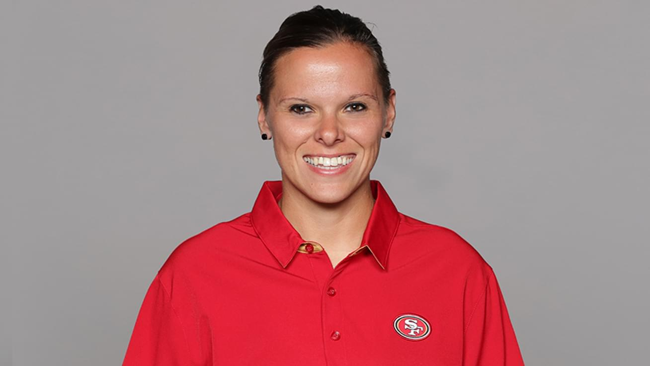 July 17: The 49ers Assistant Coach and first openly LGBTQ coach in the NFL Katie Sowers