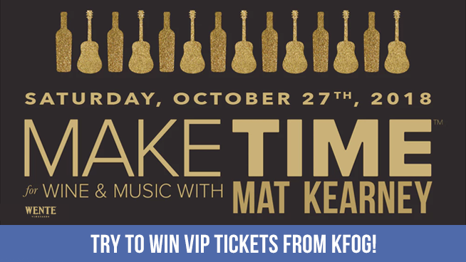 "Try To Win VIP Tickets To ""Make Time For Wine & Music With Mat Kearney"""