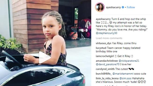 Riley Curry turns six and celebrates with #InMyFeelings Challenge