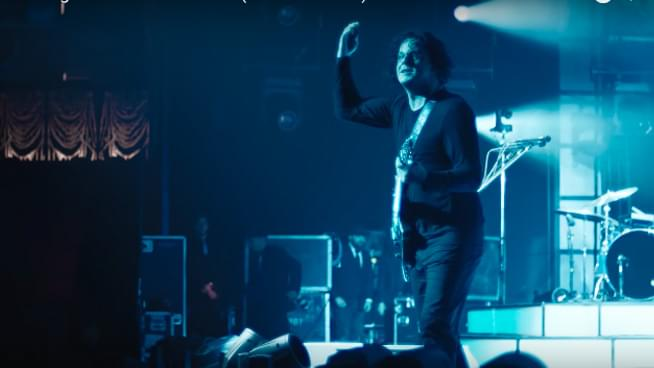 jack white in kneeling at the anthem d.c. trailer