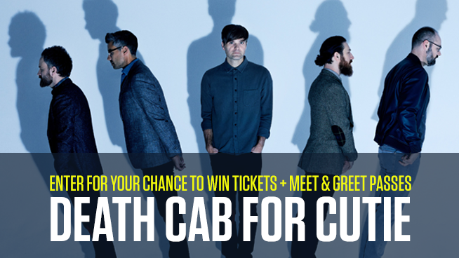 Score Tickets and Meet & Greet Passes With Death Cab For Cutie