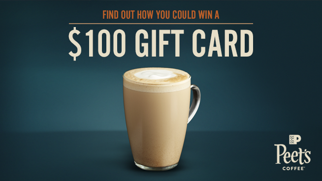 Try To Win A $100 Peet's Gift Card!